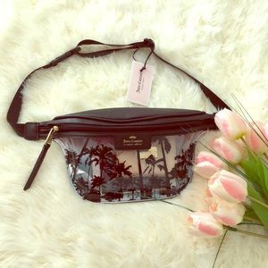 Juicy Couture clear beach belt bag.